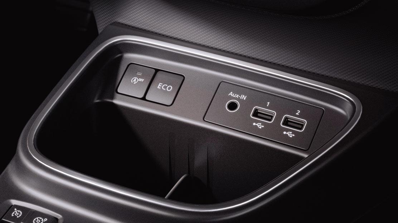 Middy: Consolle posteriore con USB