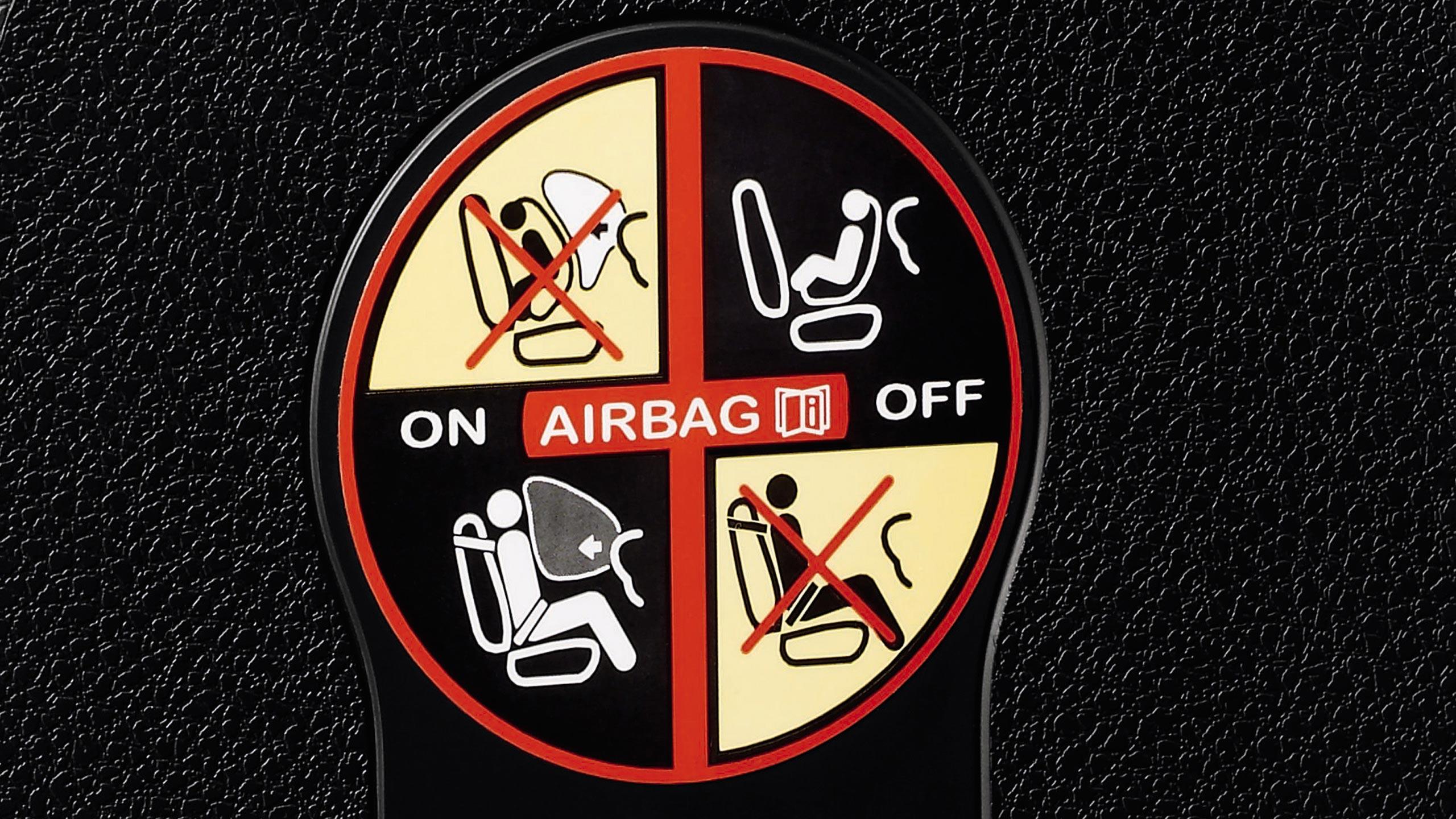 Passagiers airbag uitschakelbaar