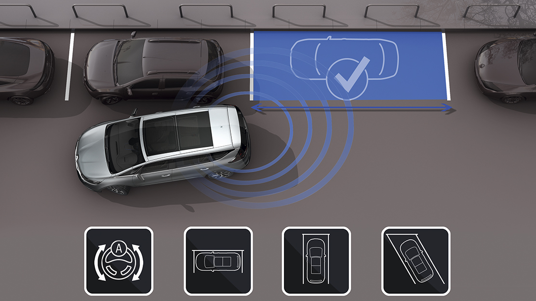 Sensores de estacionamento laterais