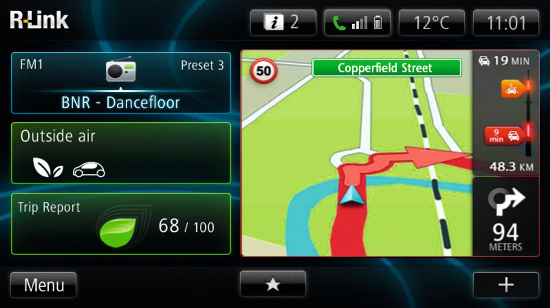 Europa-wegenkaart voor het navigatiesysteem