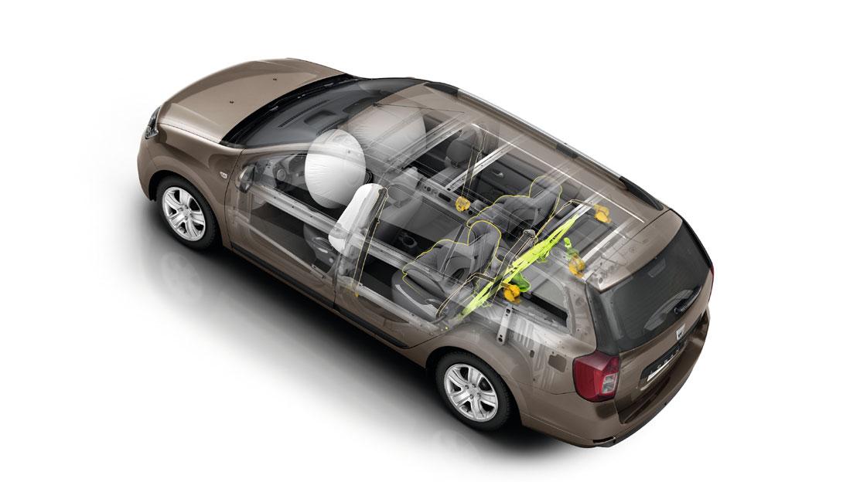 Boční airbagy na místě řidiče a spolujezdce