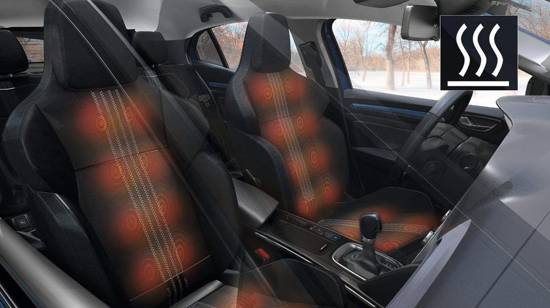 Elektrisch verwarmbare voorstoelen