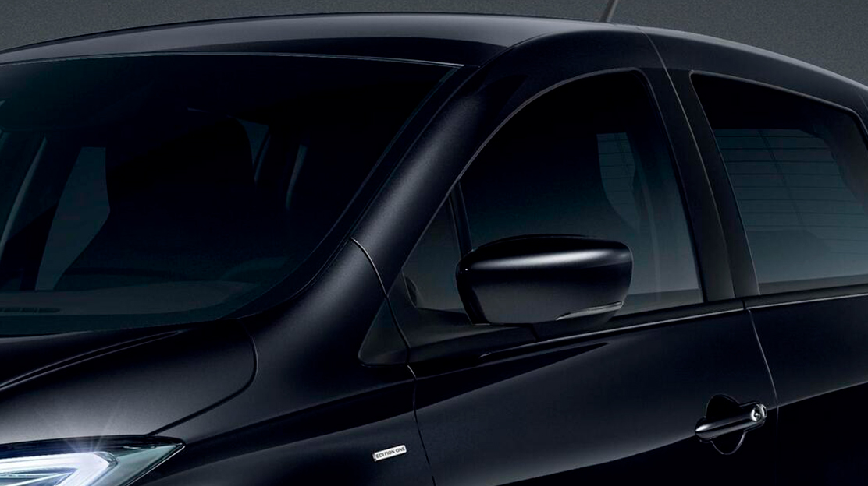 Retrovisores exteriores en color negro