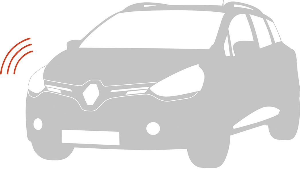 Alarmvoorbereiding (meebestellen bij inbouw Renault alarmsysteem als accessoire)