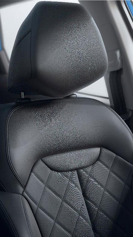 Fahrersitz höhenverstellbar mit manueller Lordosenstütze und Sitzflächenverlängerung