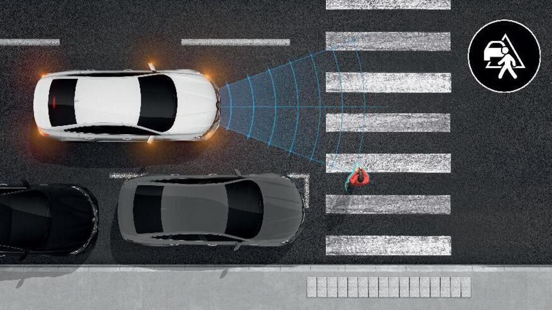 Active Emergency Braking System met voetgangersdetectie