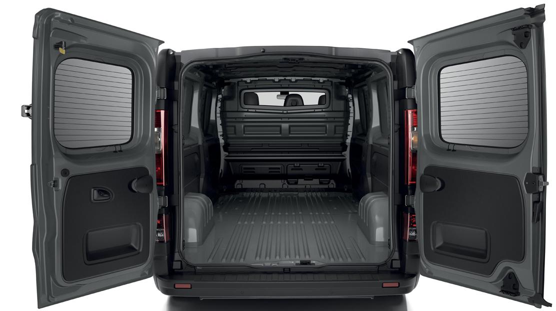Glazed 180° opening rear doors