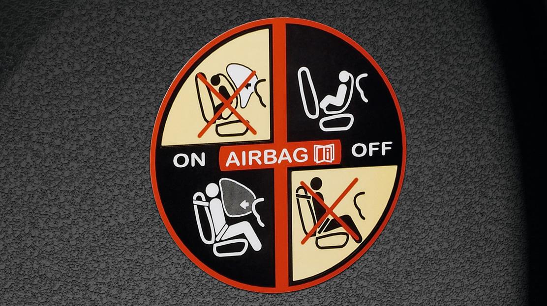 Airbag passager à retenue programmée, déconnectable