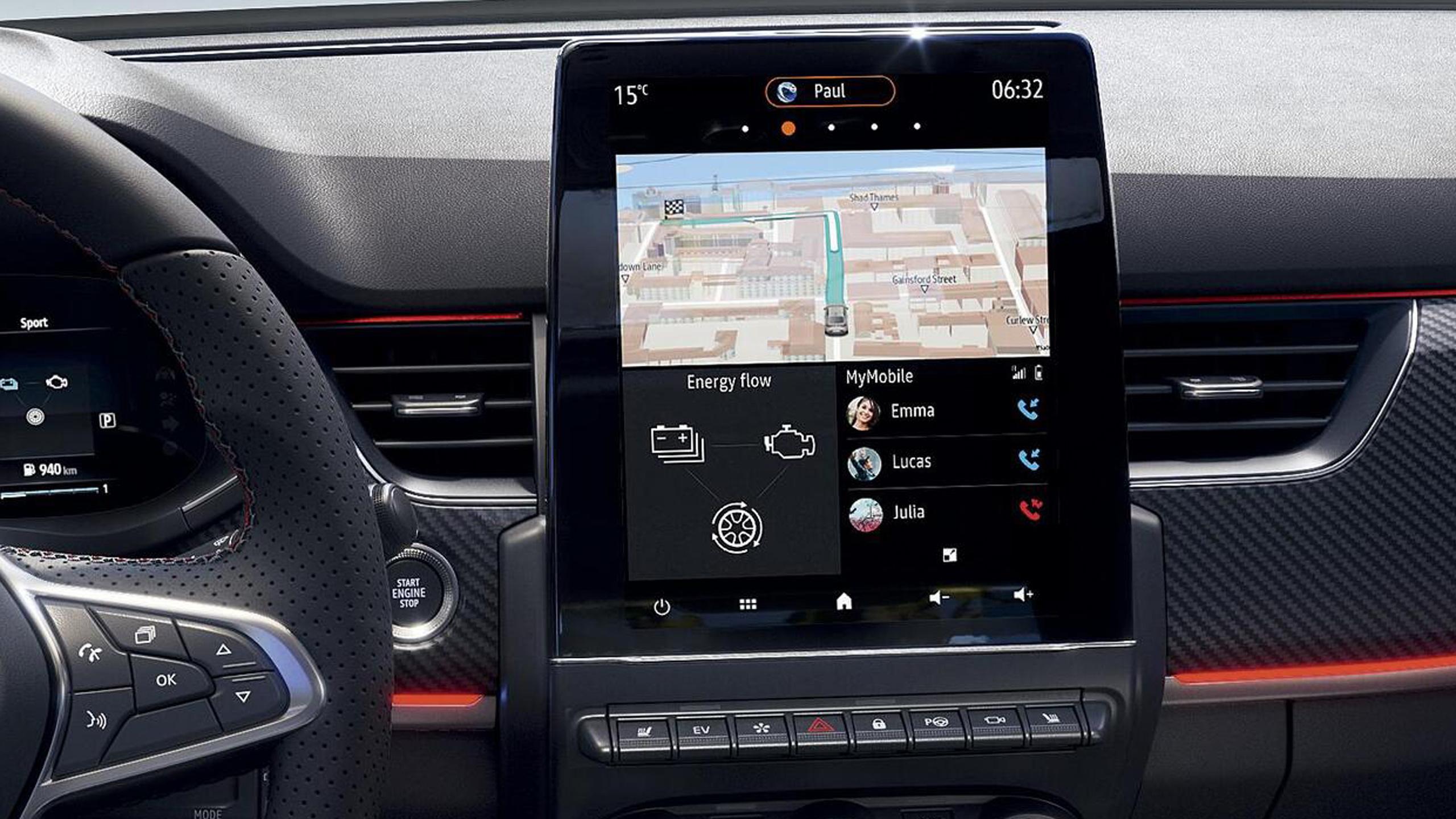 Online-Multimediasystem EASY LINK 9,3-Zoll Touchscreen mit Navigation
