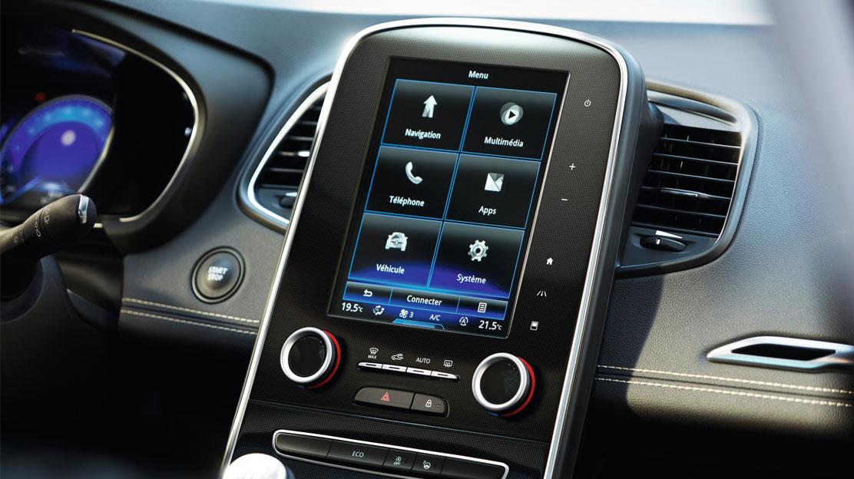 Renault R-LINK 2: integriertes Infotainmentsystem mit 8,7-Zoll-Touchscreen