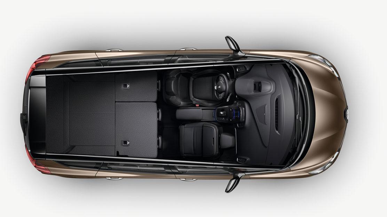 Zadní sedadla dělená v poměru 1/3 - 2/3 se středovou loketní opěrkou a funkcí One Touch