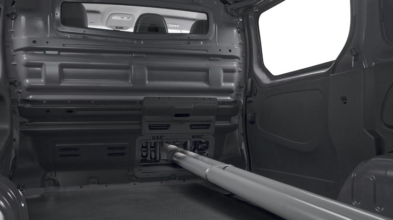 Glazed full steel bulkhead with load-through facility