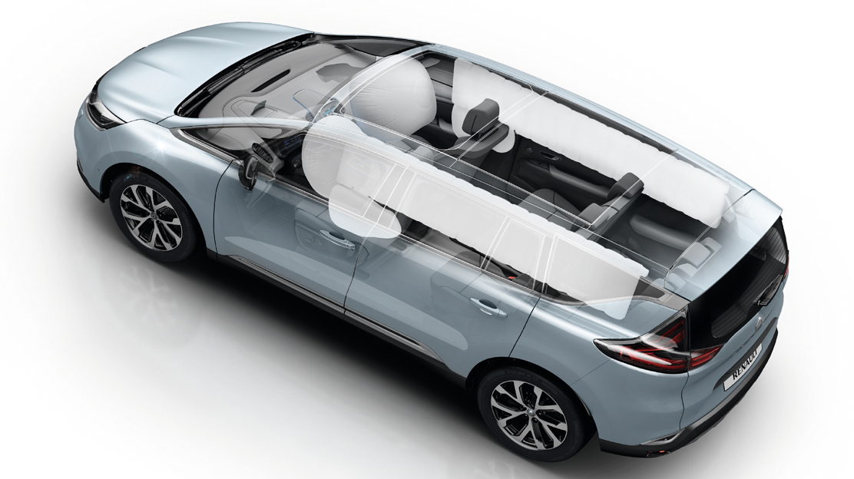 Adaptieve airbags voor bestuurder en passagier vóór
