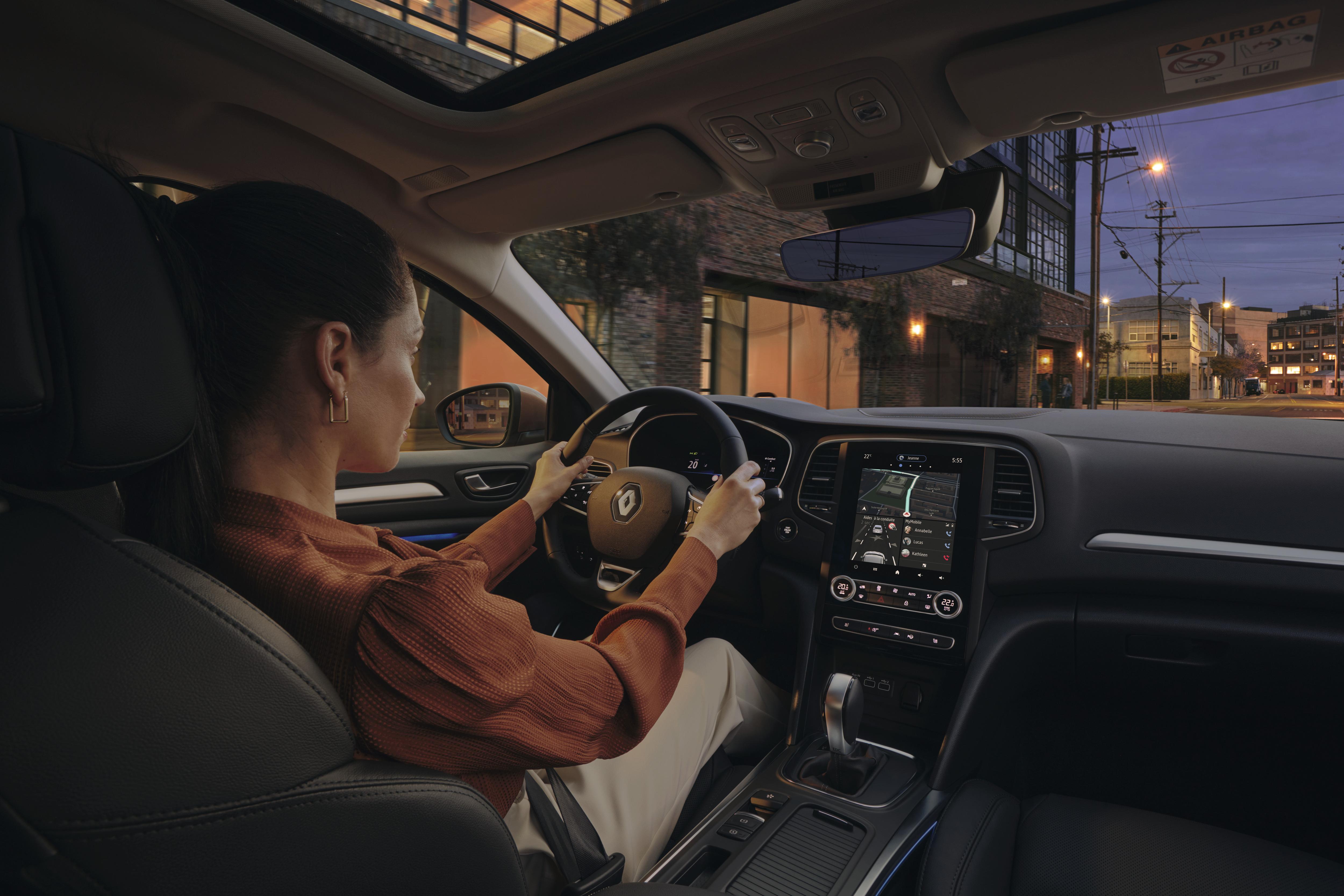 Zonneklep met spiegel en LED-verlichting voor bestuurder en passagier