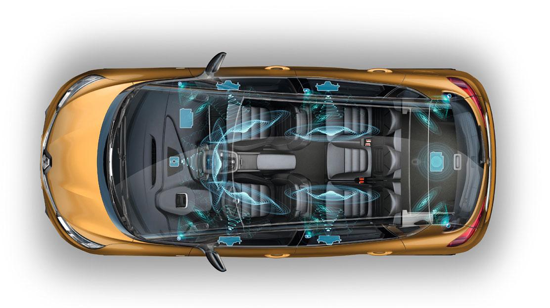 """Système multimédia Renault R-Link 2 avec écran couleur tactile 8,7"""" et Bose Sound System"""