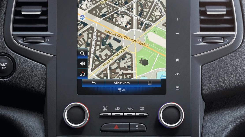 Système multimédia Renault R-Link 2 avec navigation TomTom LIVE et cartographie Europe