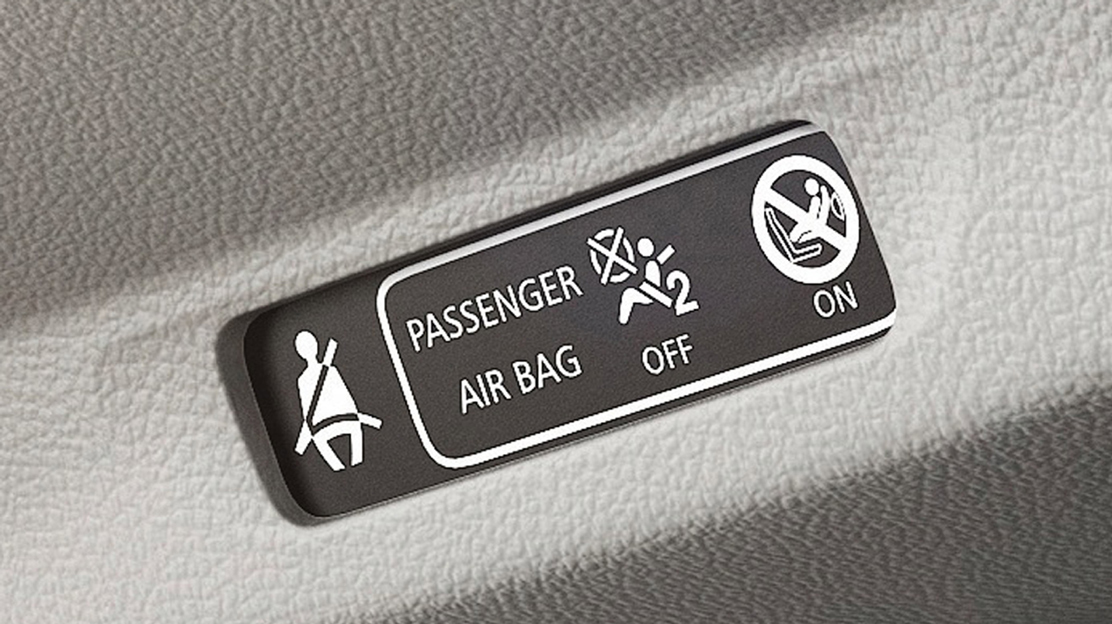 Seatbelt not fastened - visual and audible warning