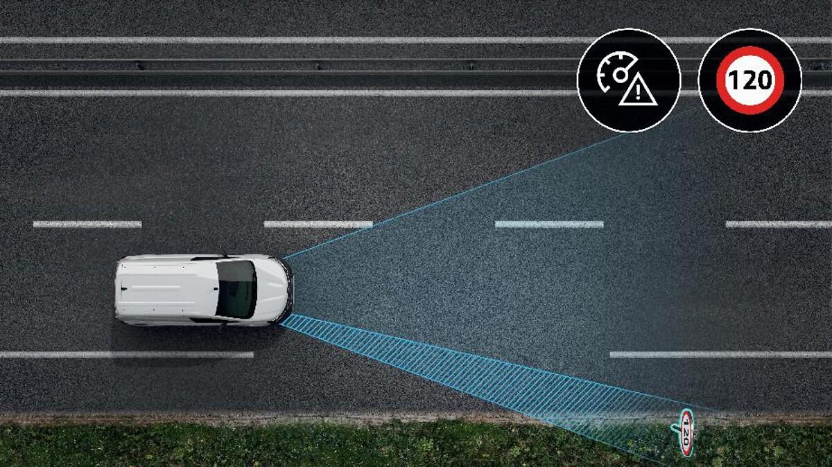 Tempowarnfunktion mit Verkehrszeichenerkennung 2