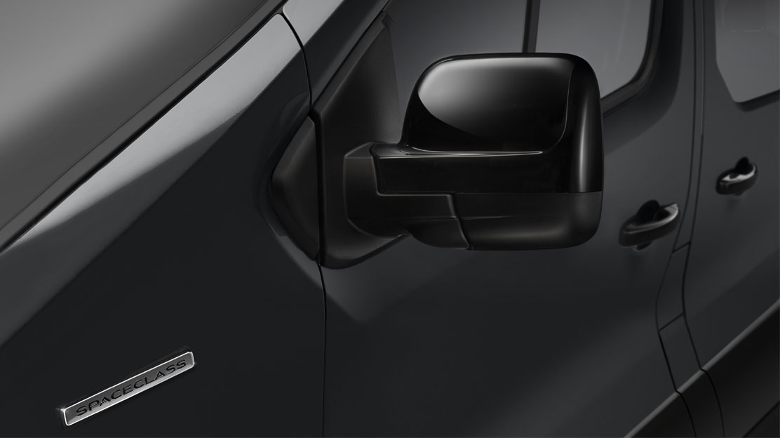 Door mirrors - electrically adjustable with temperature sensor
