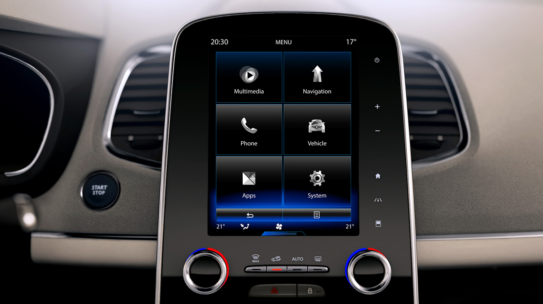 R-Link 2:pantalla táctil 22,1cm (8,7'')comando vocal, sistema navegación 3D, Arkamys, Bluetooth, USB