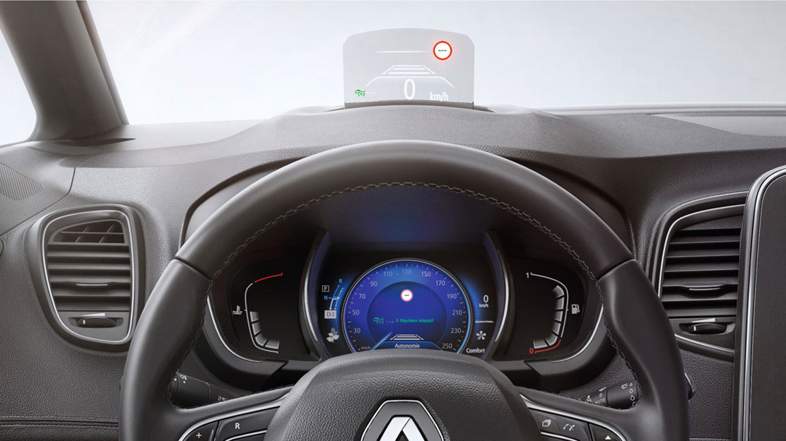 Színes head-up display