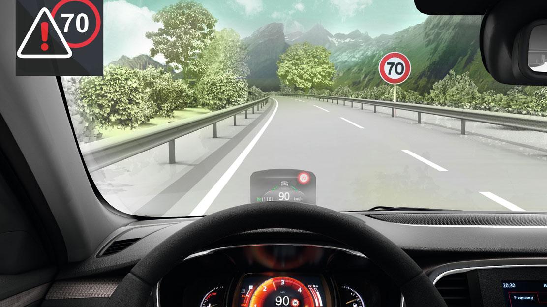 system ostrzegania o nadmiernej prędkości z funkcją rozpoznawania znaków drogowych