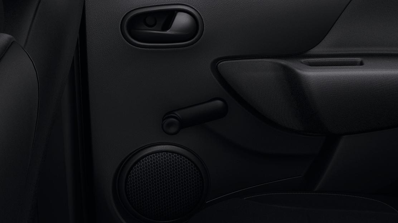 Black interior door handles