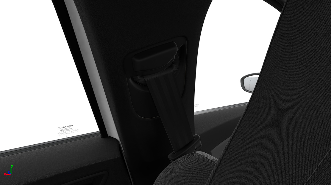 Height adjustable passenger seatbelt