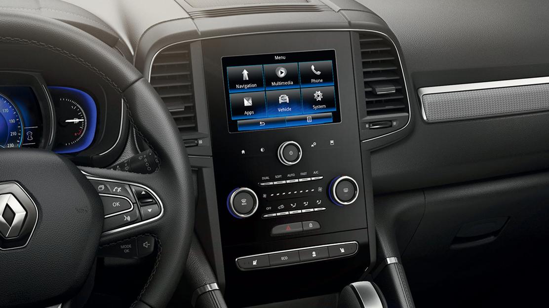 "Sistema R-LINK 2: ecrã táctil 7"", som 3D Arkamis® e conectividade Bluetooth®"