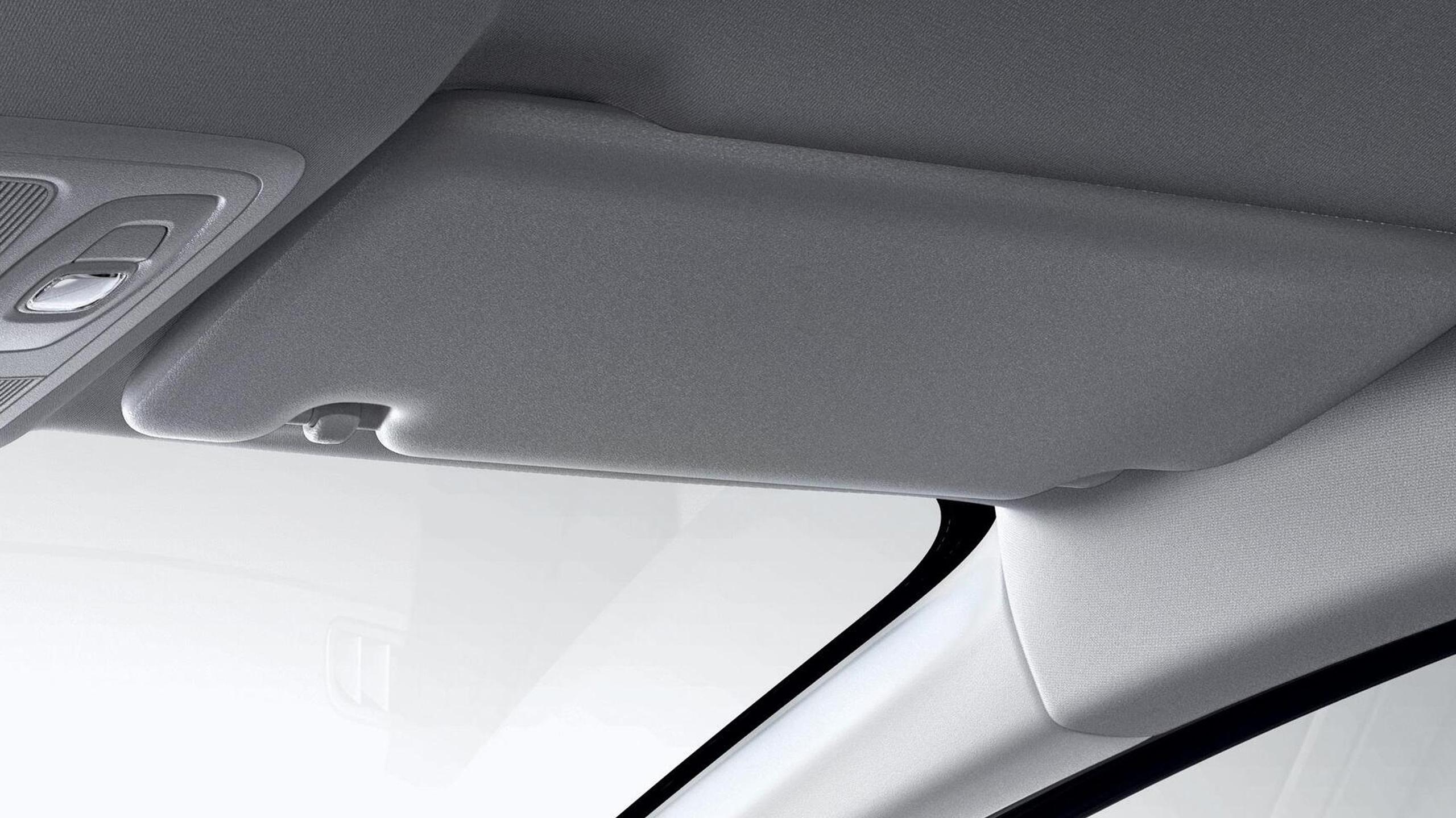 Iluminação dos espelhos de cortesia condutor e passageiro