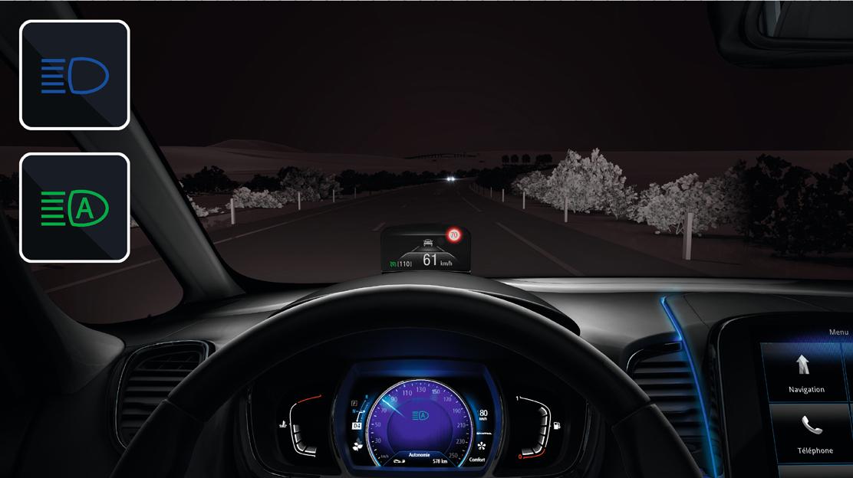 Commutation automatique des phares de route/croisement