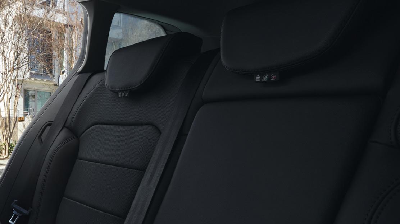 3-puntsveiligheidsgordels achteraan met geïntegreerde krachtbegrenzer op de zijdelingse zitplaatsen