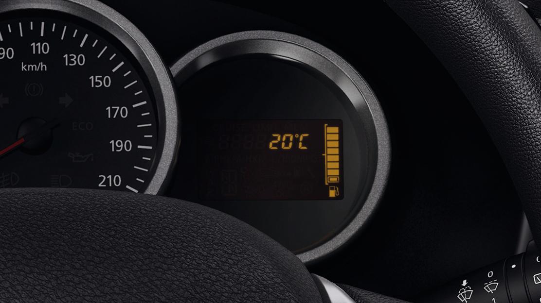 Indicador temperatura exterior