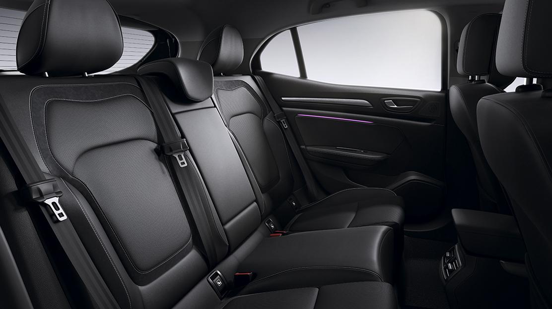 Headrests - rear - three height adjustable