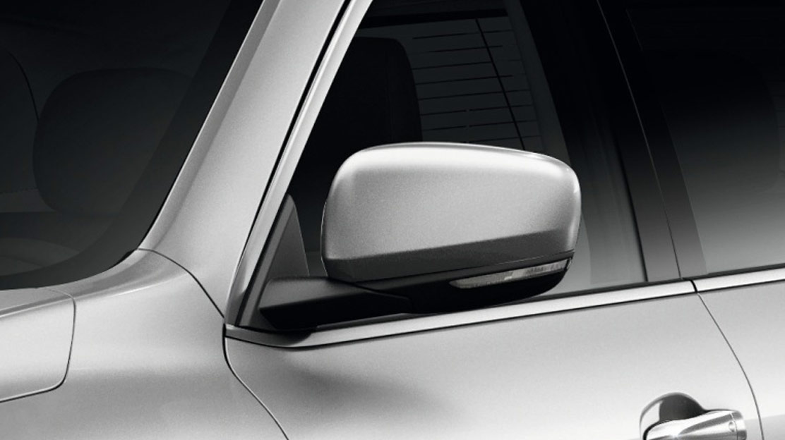 Electrically heated & folding door mirrors