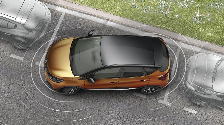 Přední a zadní parkovací senzory, zadní parkovací kamera