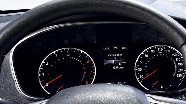 Tablou de bord cu indicatoare analogice si ecran TFT de 4,2