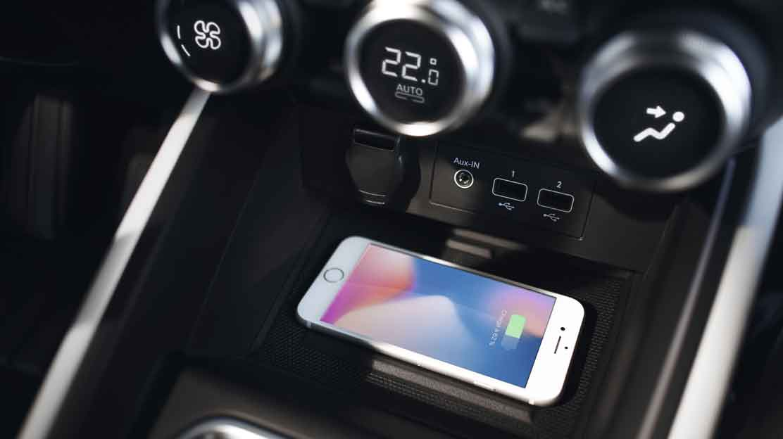 Draadloze oplader smartphone