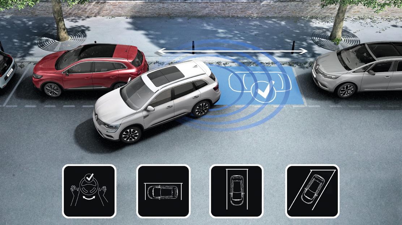Sensori di parcheggio anteriori / posteriori con telecamera di retromarcia e Easy Park Assist