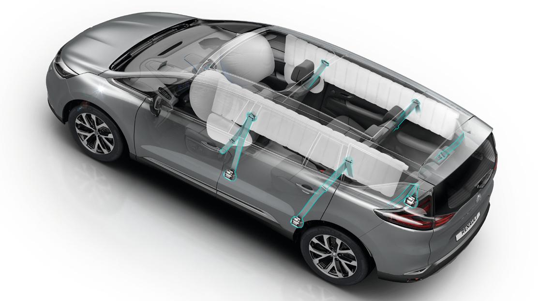 Airbags latéraux avant et rideaux avant/arrière