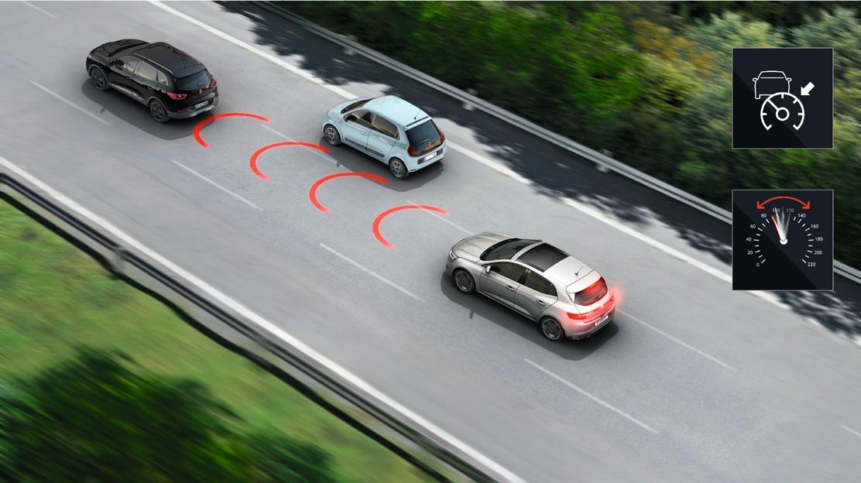 Сензор за разстоянието до движещия се отпред автомобил