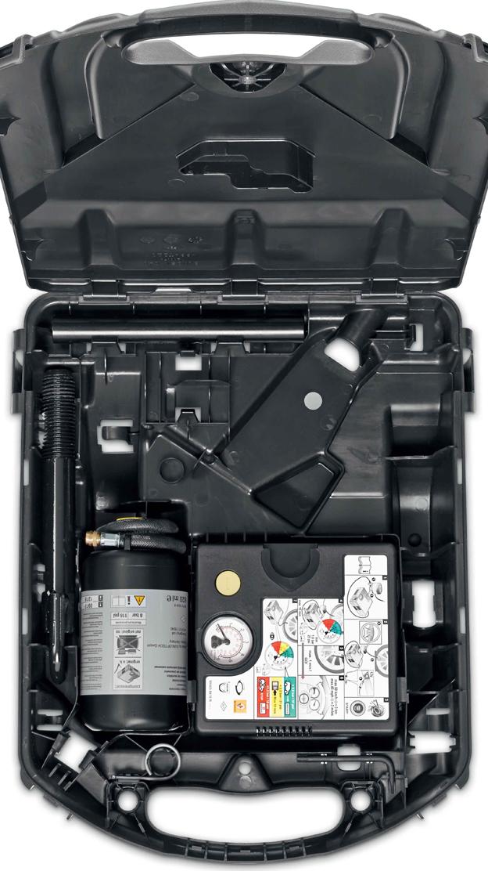 Reifenreparatur-Kit (12 Volt-Kompressor und Reifendichtmittel)