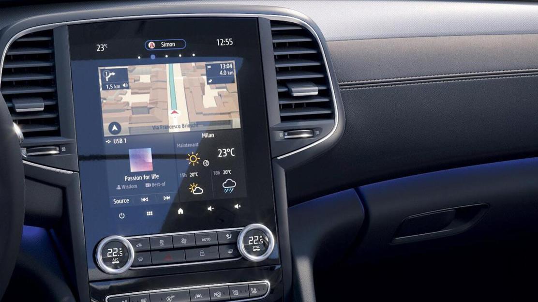 """Renault EASY LINK : système multimédia avec Navigation et radio numérique DAB sur écran tactile 9,3"""""""