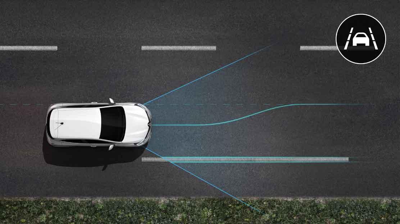 Sistem za pomoč pri ohranjanju vozila na voznem pasu - LKA