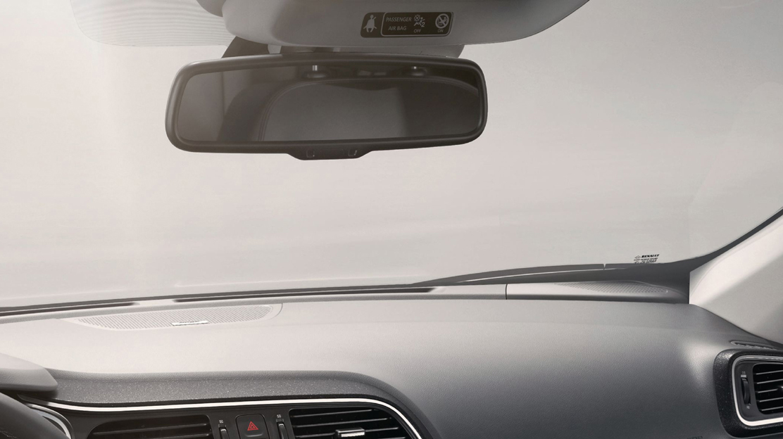 Electrochrome rearview mirror