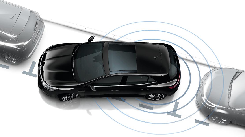 Sistem de asistenta la parcare cu senzori frontali si pe bara din spate (senzori acustici)