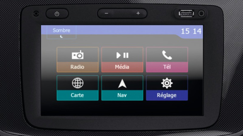 "Media Nav Evolution (écran 7"" avec navigation, réplication smartphone, prise jack, USB, bluetooth)"