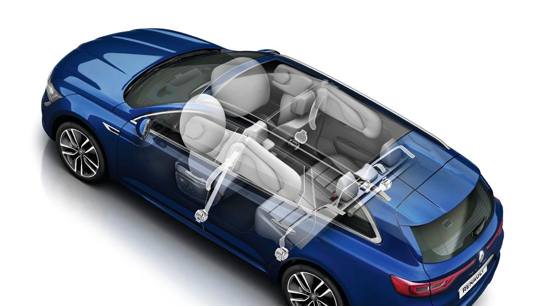 Boční airbagy vpředu a hlavové airbagy vpředu a vzadu