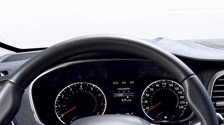 Analoge toerenteller en snelheidmeter met 4,2