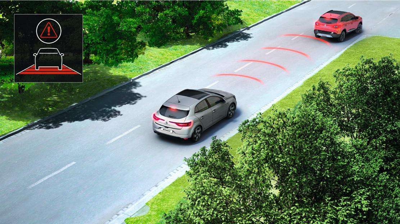 Rozsvícení výstražných světel v případě nouzového brzdění nebo nehody